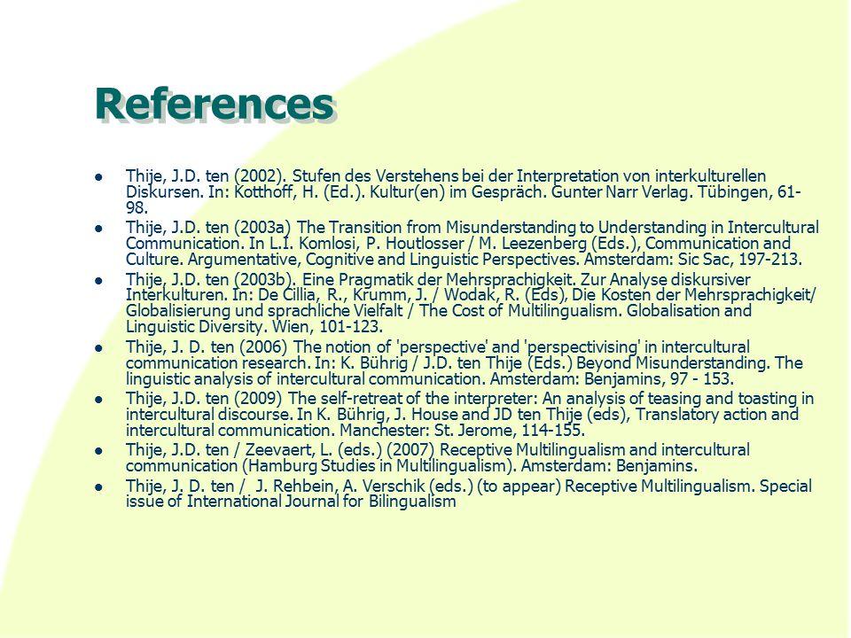 References Thije, J.D. ten (2002).