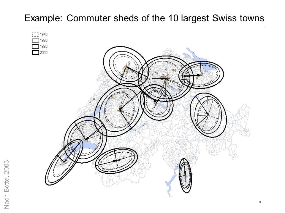 9 Size of activity spaces: A hypothesis Wages Fleet comfort Housing consumption vtts et al.