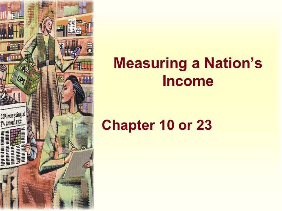 Measuring a Nation's Income Chapter 10 or 23