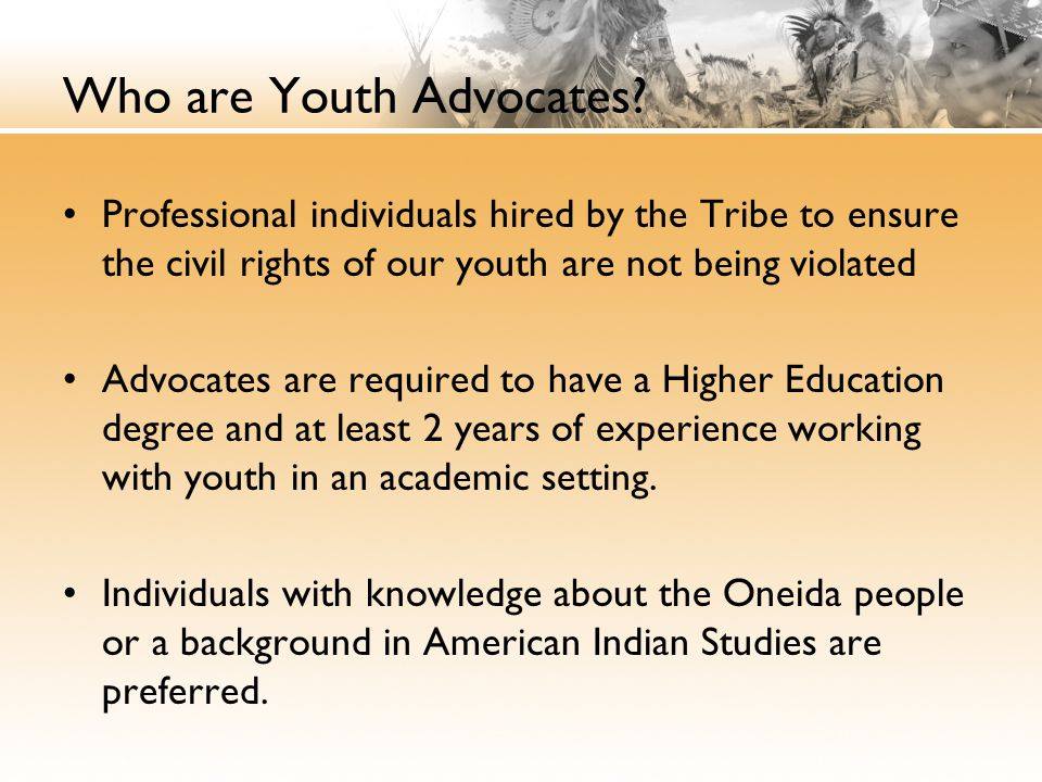 Who are Youth Advocates.