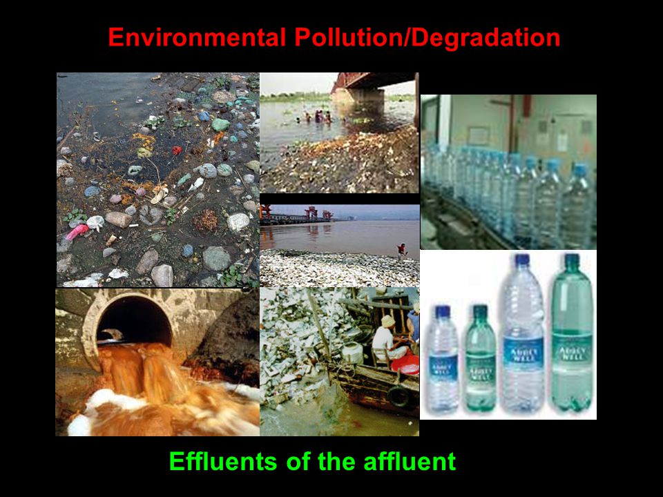 Environmental Pollution/Degradation Effluents of the affluent