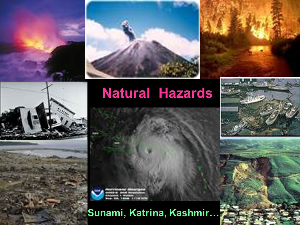 Natural Hazards Sunami, Katrina, Kashmir…