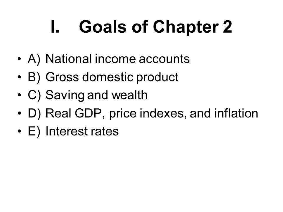 I.National Income Accounting: The Measurement of Production, Income, and Expenditure (Sec.