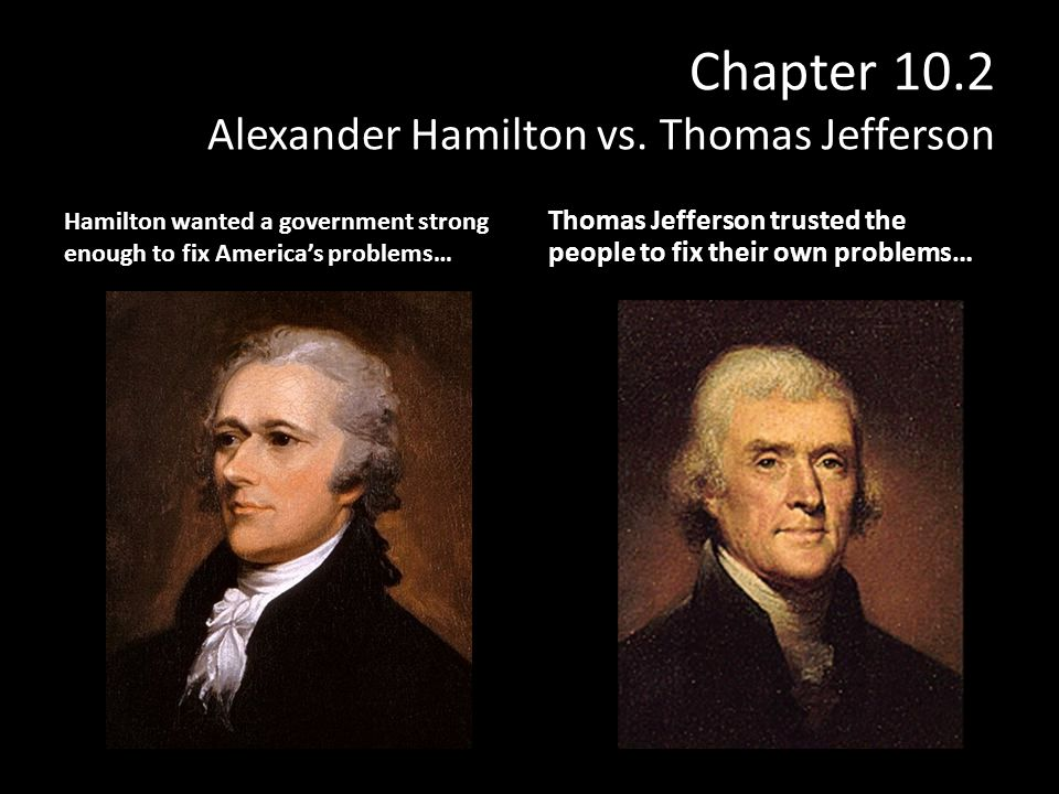 A comparison of the views of alexander hamilton and thomas jefferson a comparison of the views of alexander hamilton and thomas jefferson on how the government should ccuart Gallery