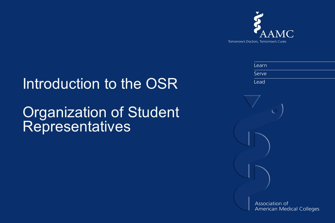 Introduction to the OSR Organization of Student Representatives