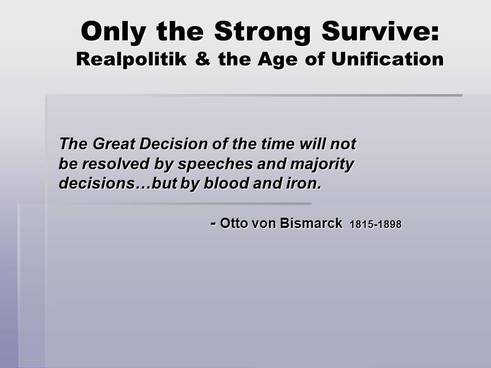B. Otto von Bismarck 1. The reluctant nationalist - Junker - Prussian absolutism