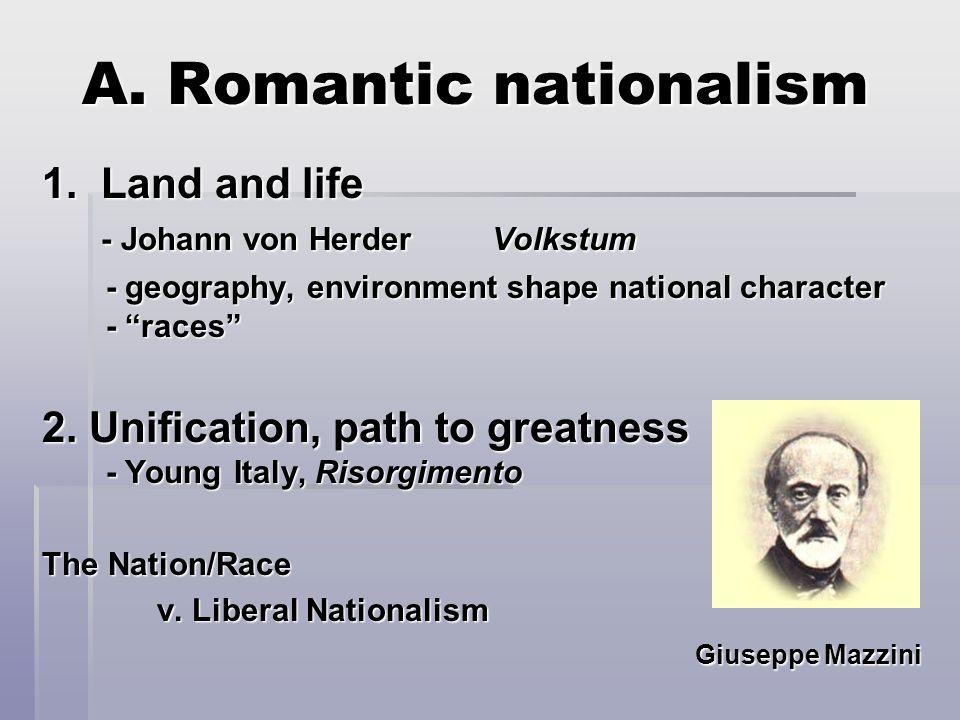 A. Romantic nationalism 1.