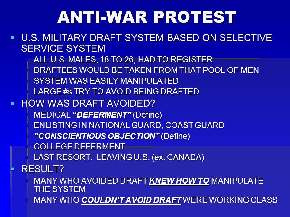 ANTI-WAR PROTEST ANTI-WAR PROTEST  80% OF U.S.
