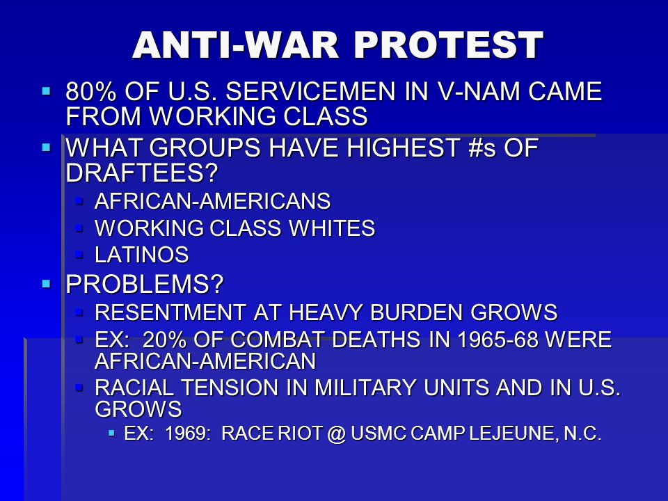 ANTI-WAR PROTEST ANTI-WAR PROTEST  SOME GROUPS TRY TO HELP SITUATION IN V- NAM:  U.S.