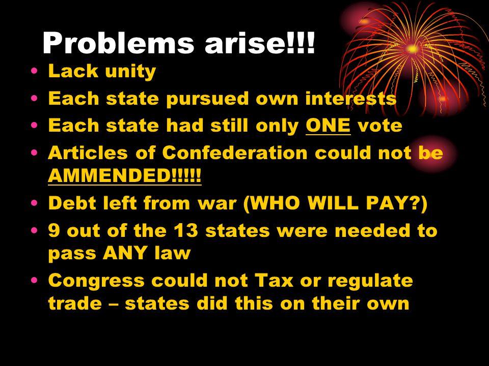 Problems arise!!.