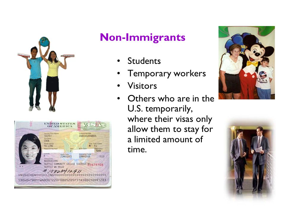 Someone In the U.S. Who is Not a Citizen is Either An Immigrant or a Non-immigrant