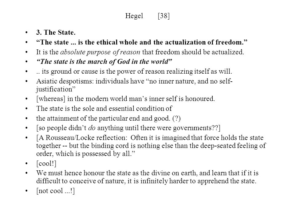Hegel [39] The Constitution Who shall frame the constitution.