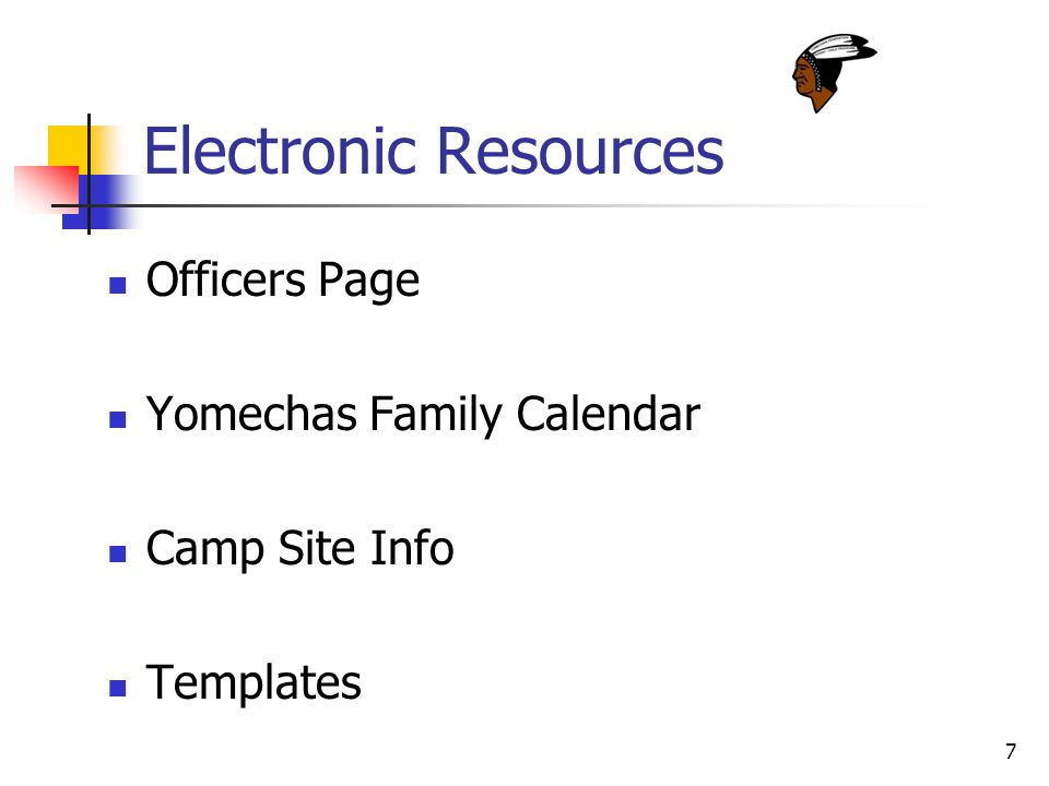 7 Electronic Resources Officers Page Yomechas Family Calendar Camp Site Info Templates