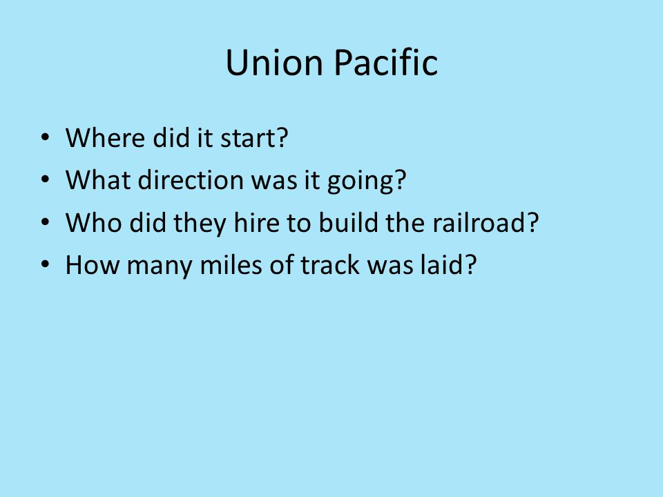 Summary Why did the federal government want a transcontinental railroad.