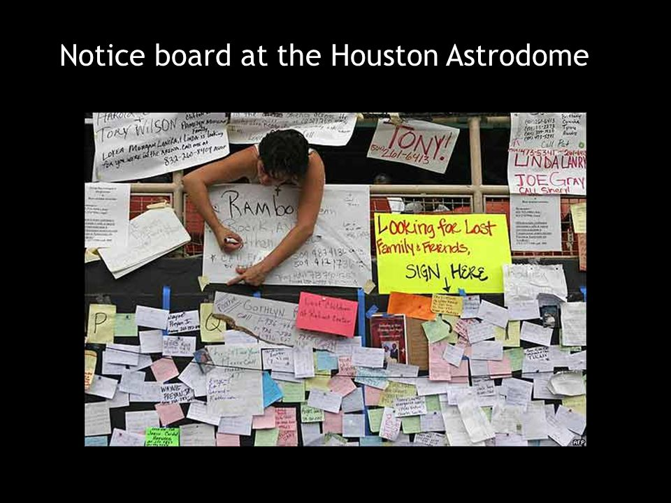 Notice board at the Houston Astrodome