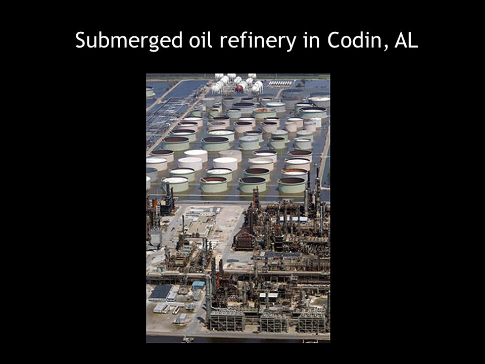 Submerged oil refinery in Codin, AL