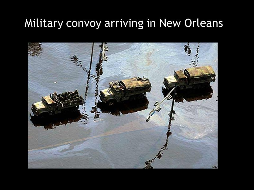 Military convoy arriving in New Orleans