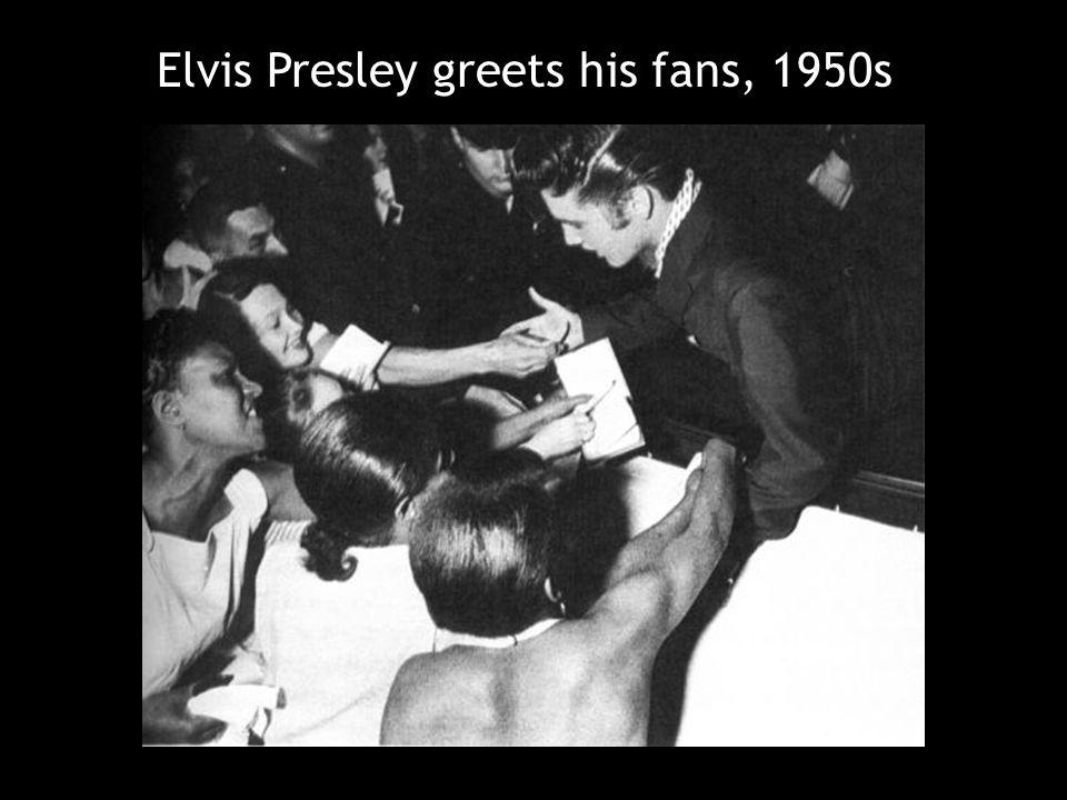 Elvis Presley greets his fans, 1950s