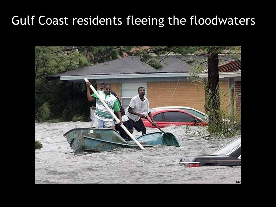 Gulf Coast residents fleeing the floodwaters