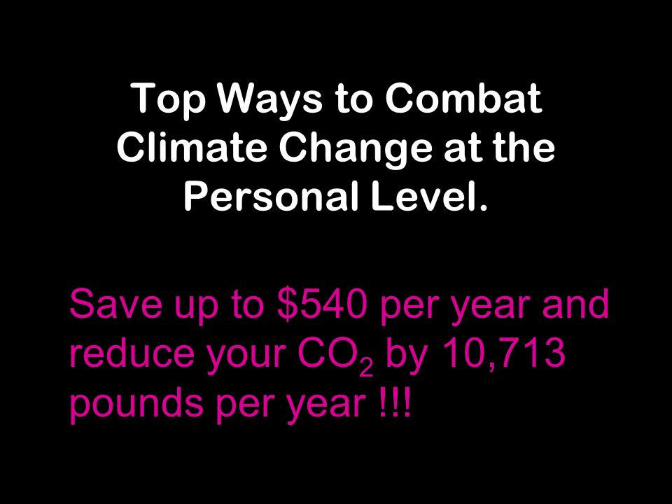 Top Ways to Combat Climate Change at the Personal Level.