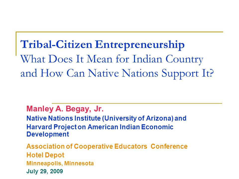 So How Do You Increase Tribal-Citizen Entrepreneurship?
