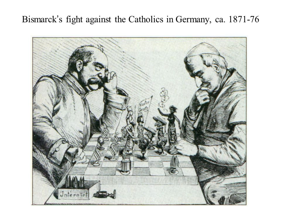 Bismarck's fight against the Catholics in Germany, ca. 1871-76
