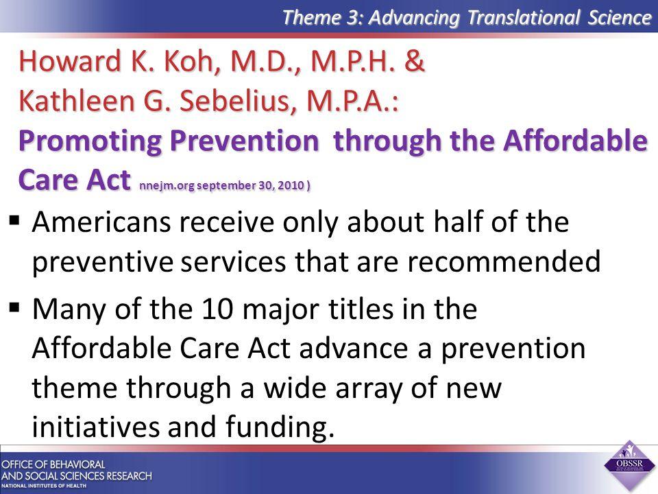 Howard K.Koh, M.D., M.P.H. & Kathleen G.