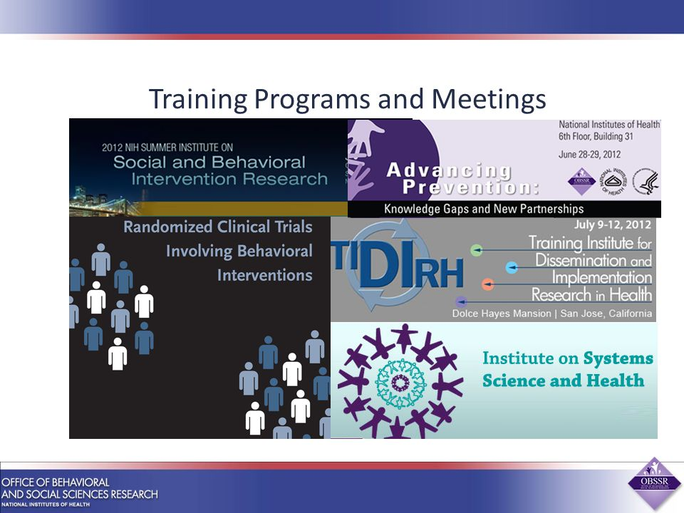 Training Programs and Meetings