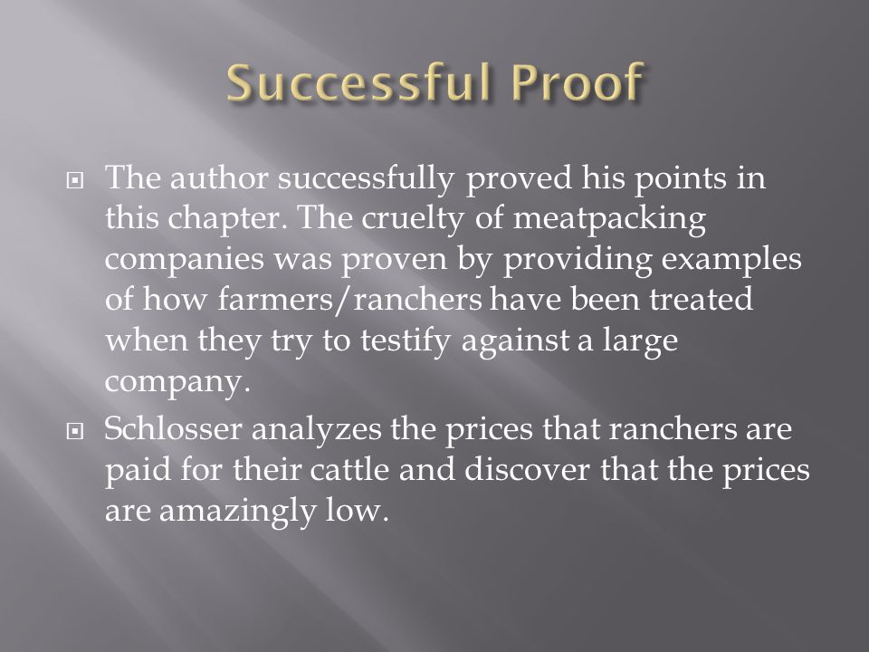  The author successfully proved his points in this chapter.