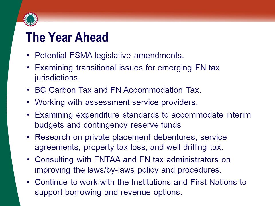 The Year Ahead Potential FSMA legislative amendments.