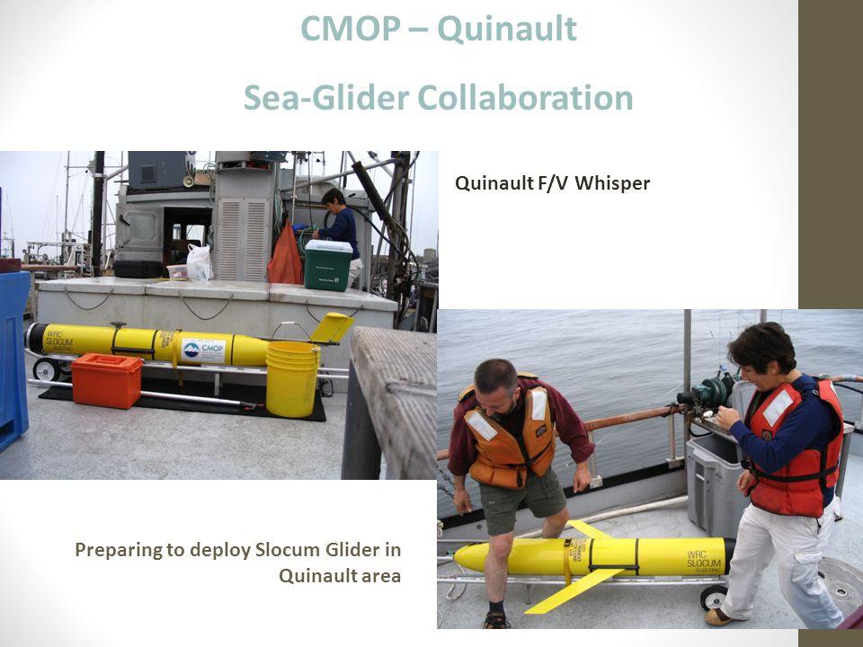 CMOP – Quinault Sea-Glider Collaboration Quinault F/V Whisper Preparing to deploy Slocum Glider in Quinault area