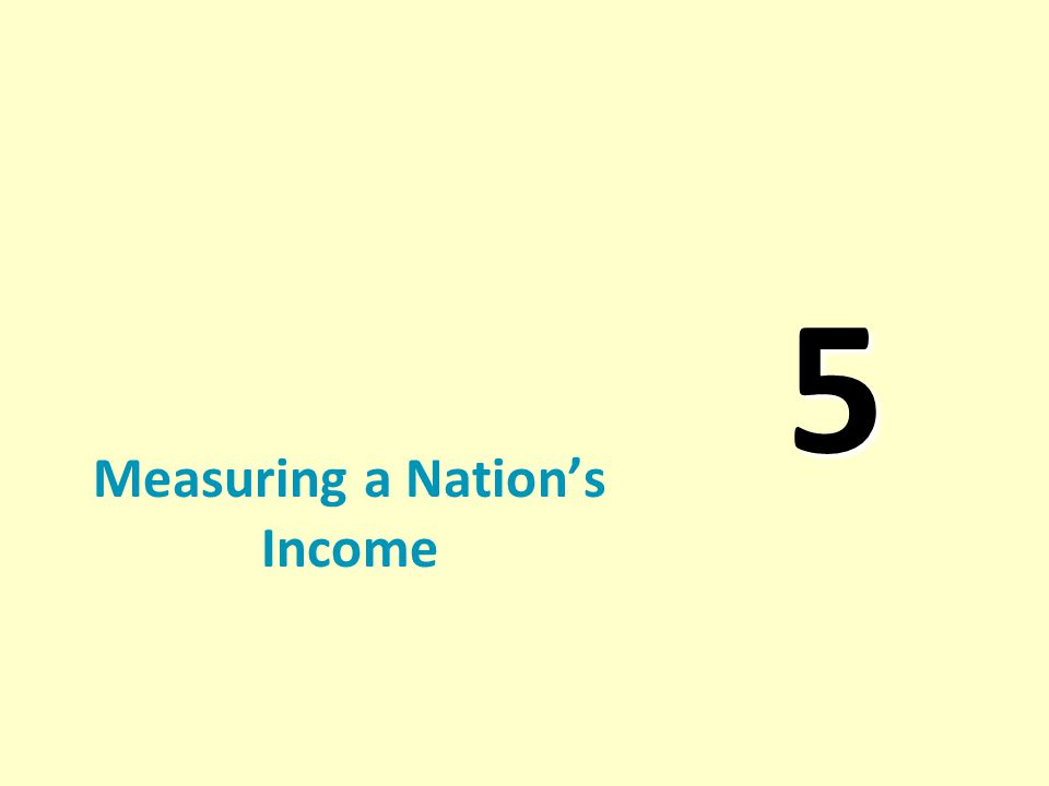 5 Measuring a Nation's Income
