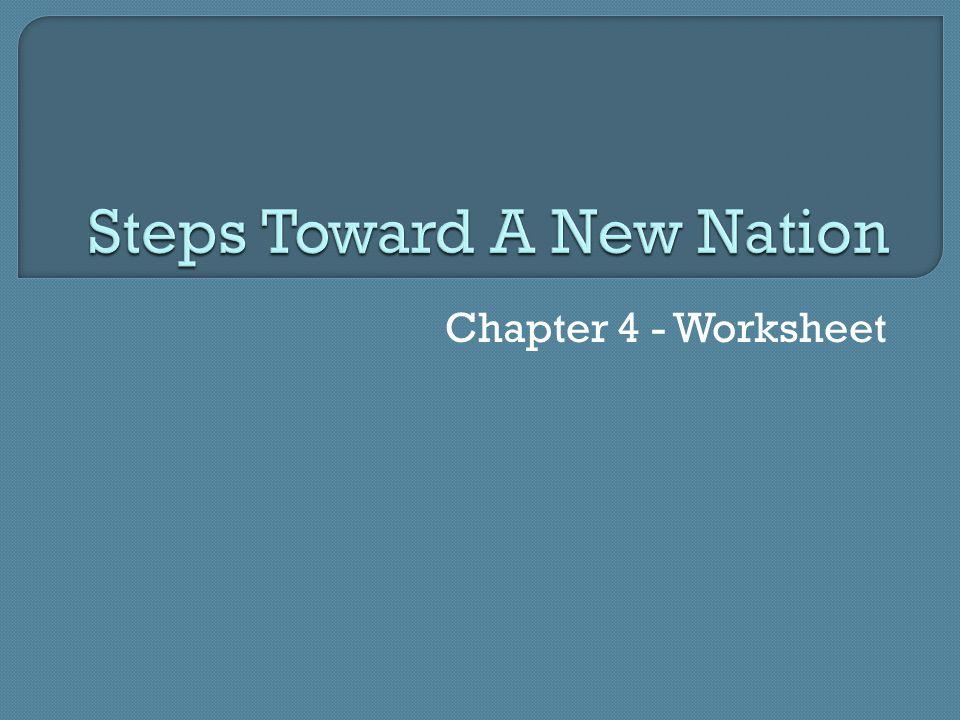 Chapter 4 - Worksheet