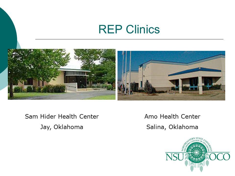 REP Clinics Sam Hider Health Center Jay, Oklahoma Amo Health Center Salina, Oklahoma