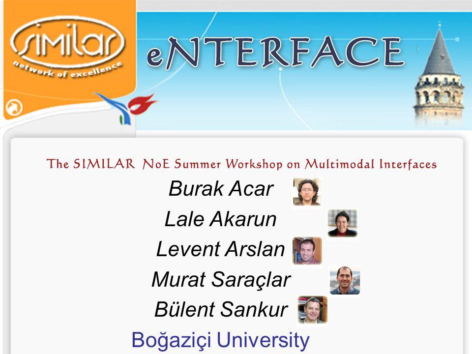 eNTERFACE'07 Invited Speakers Dilek H.