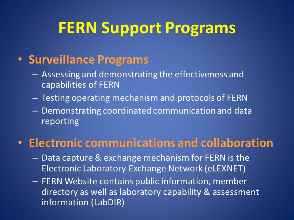 FERN Cooperative Agreements A transfer of money, property, services or anything of value to recipients to accomplish a public purpose of support or stimulation.