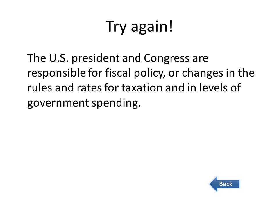 Try again. The U.S.