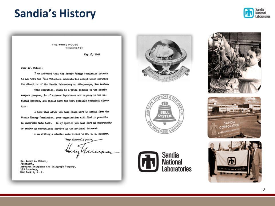 Sandia's History 2