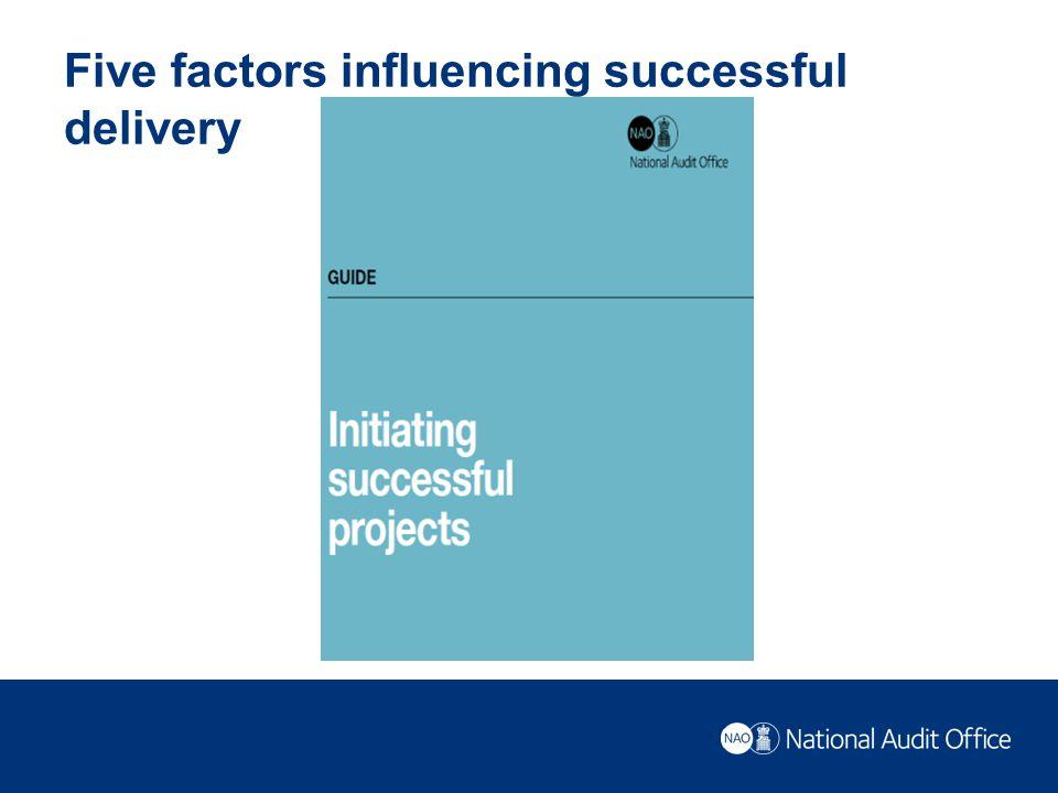 Five factors influencing successful delivery