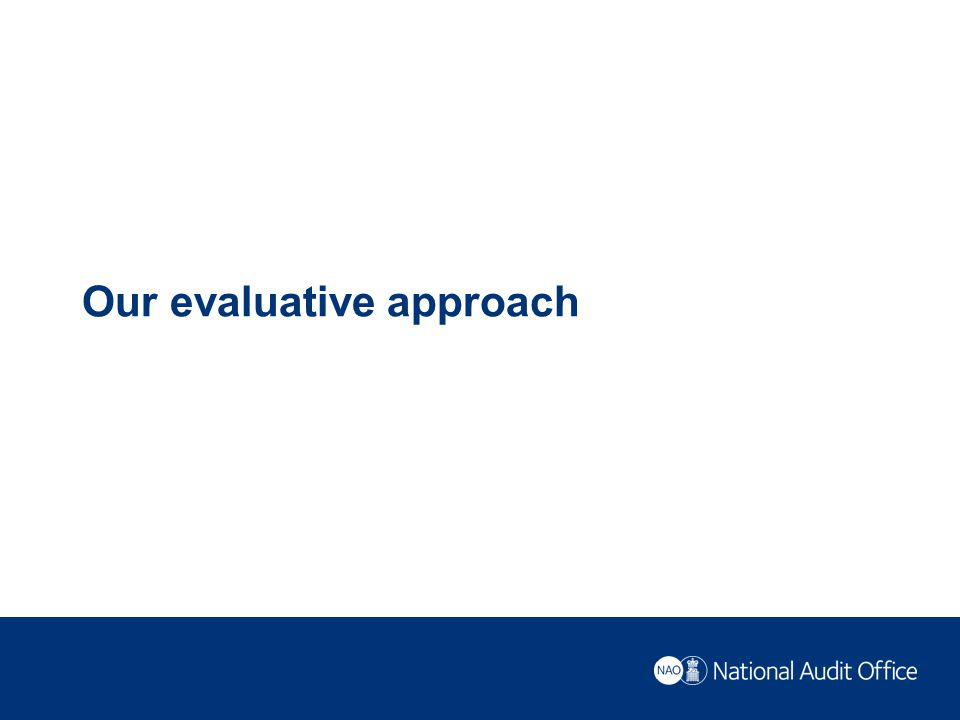 Our evaluative approach