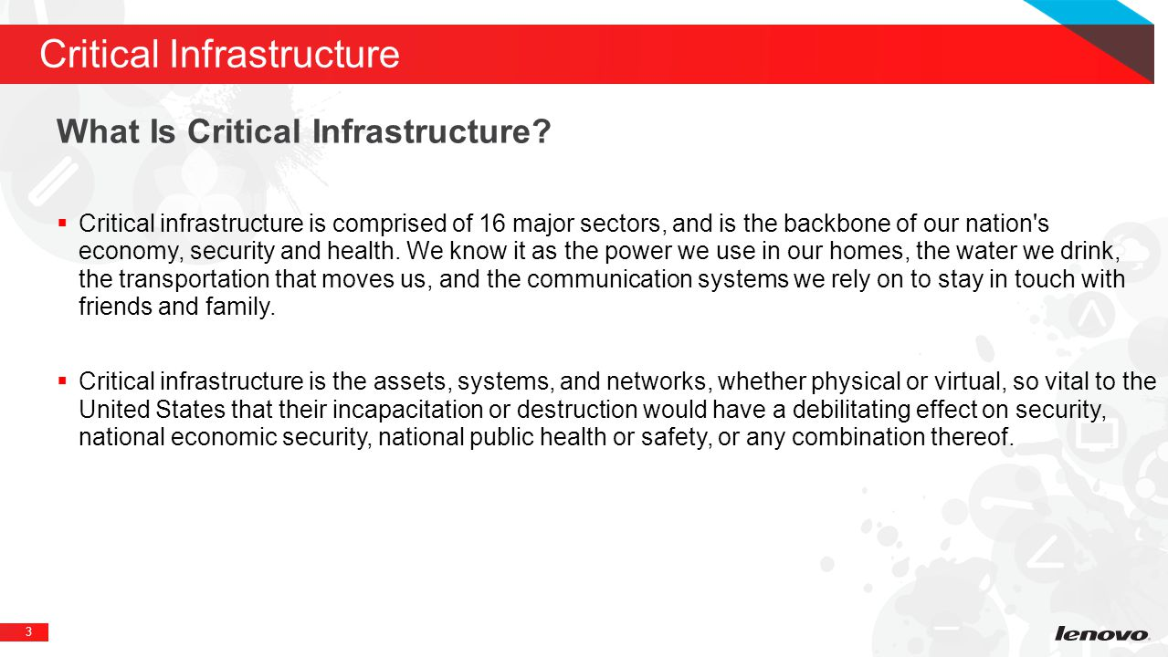 3 Critical Infrastructure What Is Critical Infrastructure.