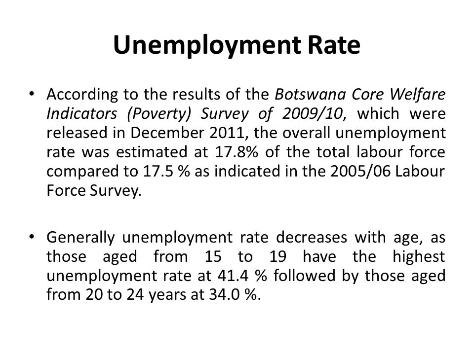 Poverty Reduction Botswana has made commendable strides towards reducing abject poverty.