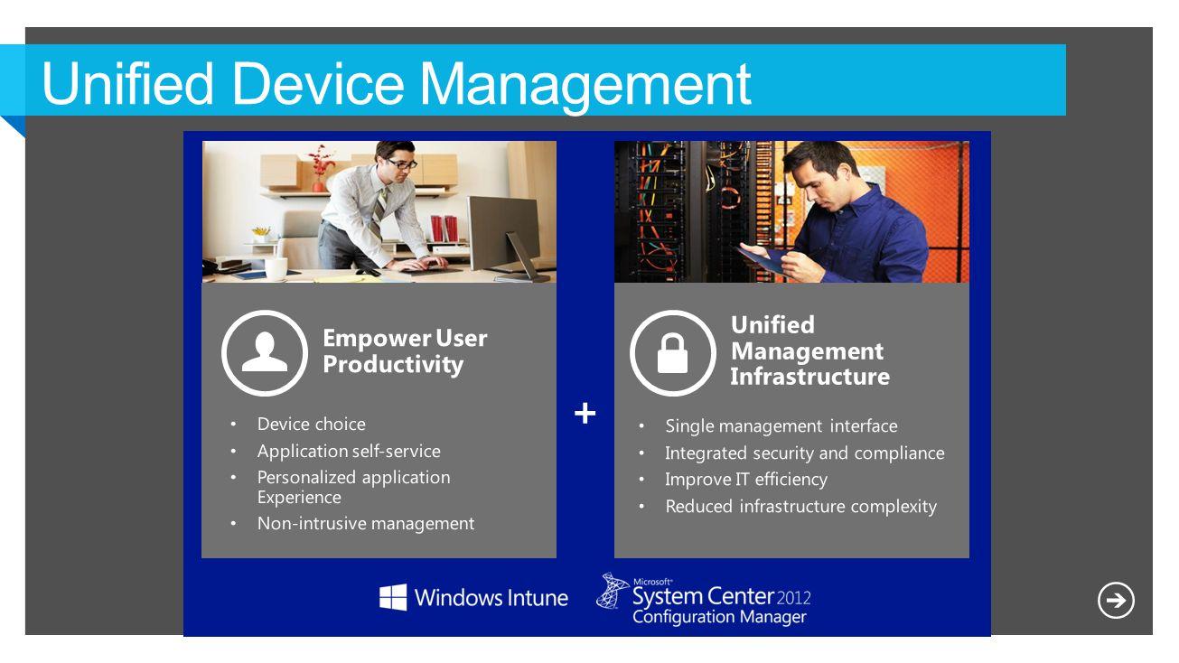 Devices & Platforms Single admin console