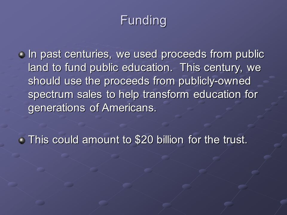 In past centuries, we used proceeds from public land to fund public education.