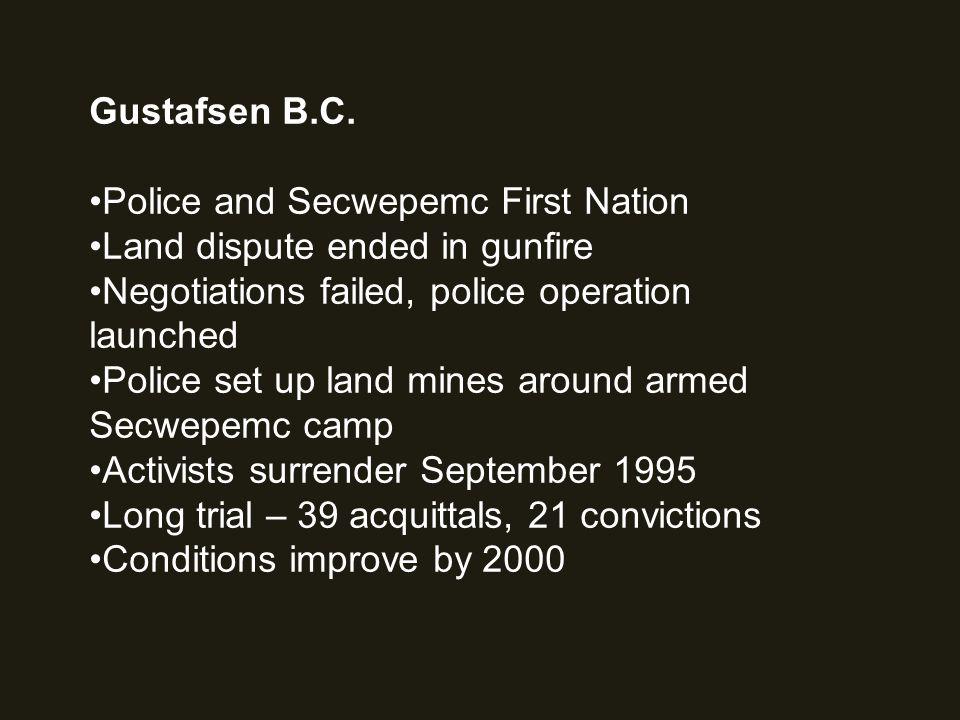 Gustafsen B.C.