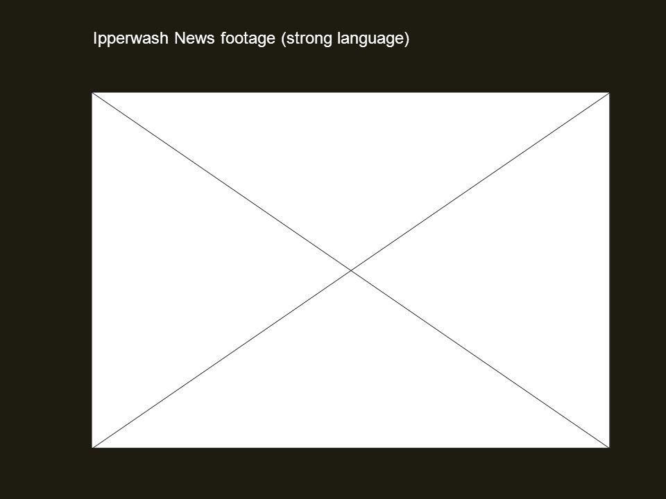 Ipperwash News footage (strong language)