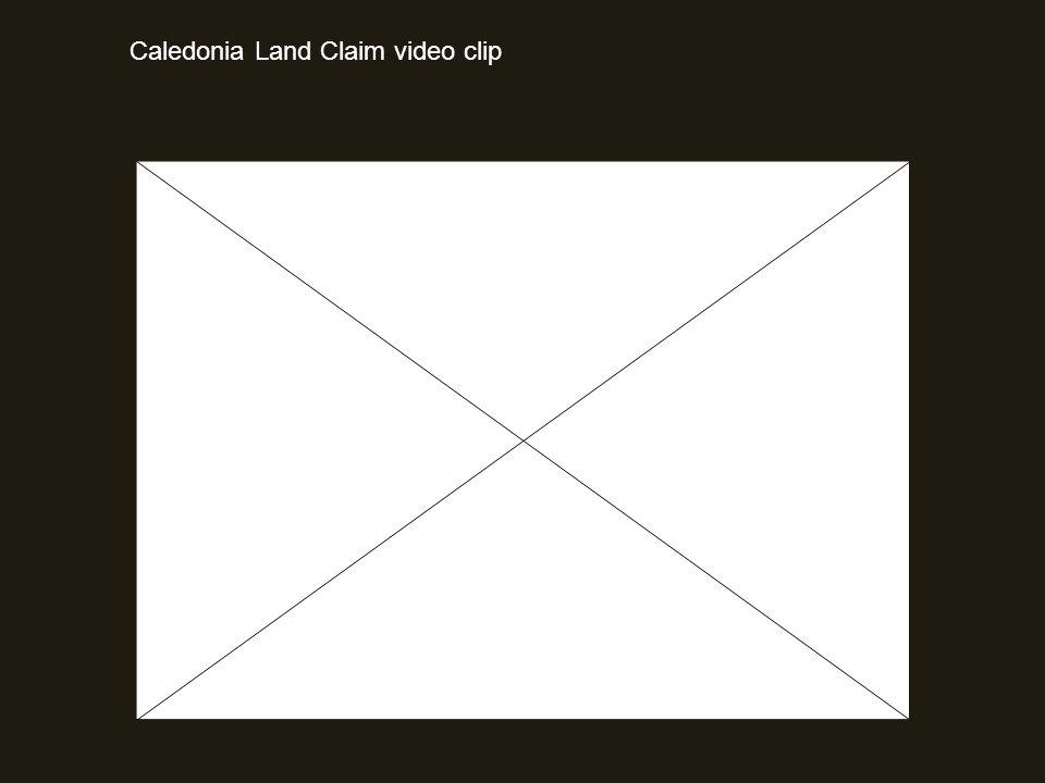 Caledonia Land Claim video clip