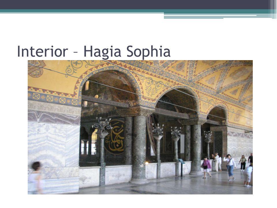 Interior – Hagia Sophia