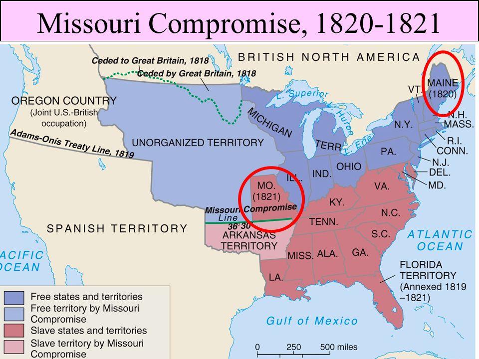 Missouri Compromise, 1820-1821
