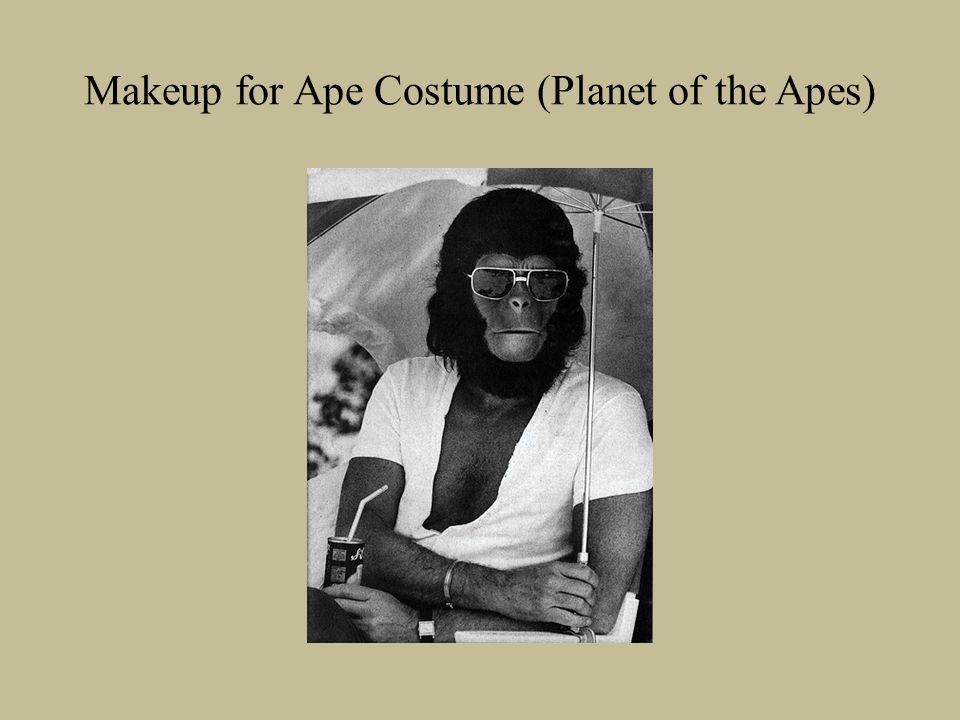 Makeup for Ape Costume (Planet of the Apes)